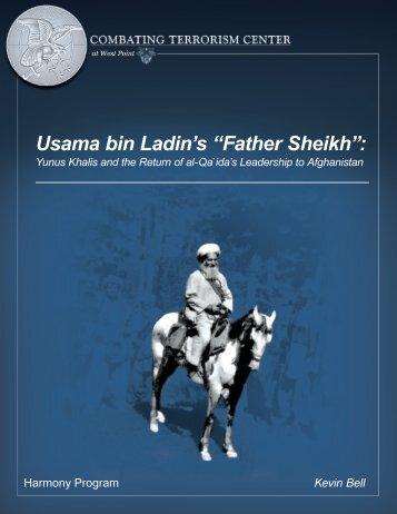 """Usama bin Ladin's """"Father Sheikh"""":"""