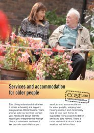 Services and accommodation for older people - East Thames Group