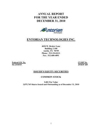 2010 annual report - b2i Technologies, Inc.