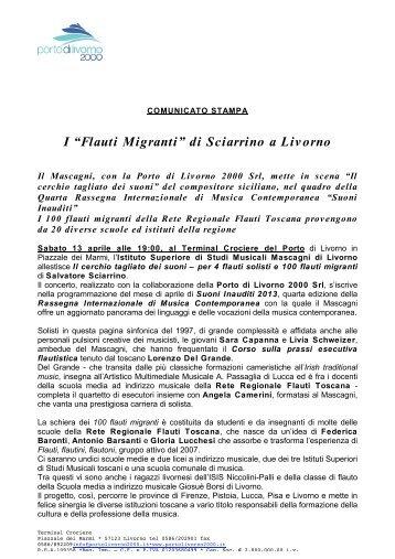 """I """"Flauti Migranti"""" di Sciarrino a Livorno - Porto di Livorno 2000"""