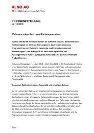 PM 13 WELLMANN neue Küchengeneration zur Eurocucina