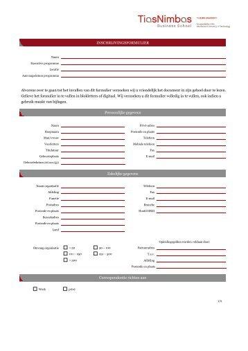 Alvorens over te gaan tot het invullen van dit formulier verzoeken wij ...