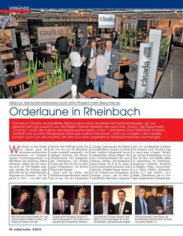 Orderlaune in Rheinbach