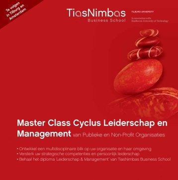 Master Class Cyclus Leiderschap en - TiasNimbas Business School