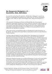 erhalten Sie ein kurzes Exposé als pdf. - des Burgverein Königstein eV