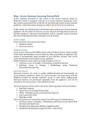 Blog -‐ Access Gateway Licensing Demystified - Citrix