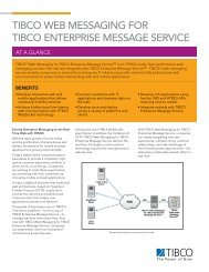 TIBCO Web Messaging for TIBCO Enterprise Message Service