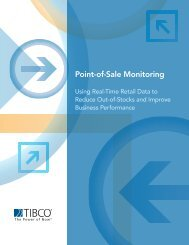 Point-of-Sale Monitoring: Using Real-Time Retail Data to - Tibco