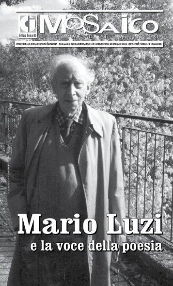e la voce della poesia Mario Luzi - Comunità Italiana