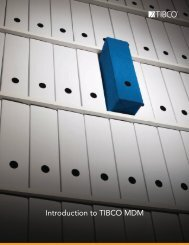 Introduction to TIBCO MDM