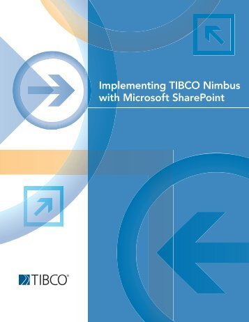 Implementing TIBCO Nimbus with Microsoft SharePoint