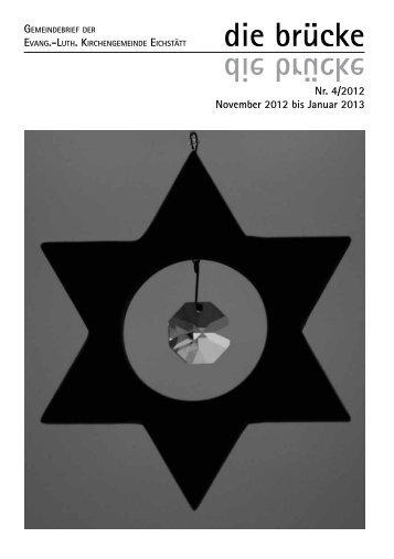 die brücke - Ausgabe 4/2012 - Evangelischen Kirchengemeinde ...