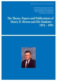 Publications of H. D. Bowen and Students .pdf - eCommons ...
