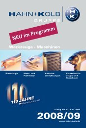 HAHN+KOLB Katalog 2008/09 Deutsch - Neuheiten - Goodtool