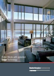 Roller Blinds with patented EDGE technology - Hunter Douglas ...