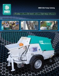 View Complete Specifications in our Pump Catalog - IMER USA.