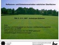 anisotrope Reflexion und Emission - Institut für Raumfahrtsysteme ...