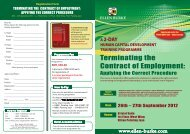 Terminating the Contract of Employment: - Ellen Burke