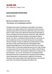 Background interview Marecucina making of December 2010