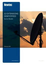 S2 ExtEnSionS DEmyStifiED - Newtec