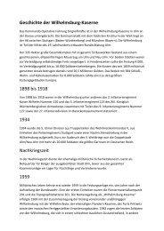Geschichte der Wilhelmsburg-Kaserne 1898 bis 1918 1934 ...