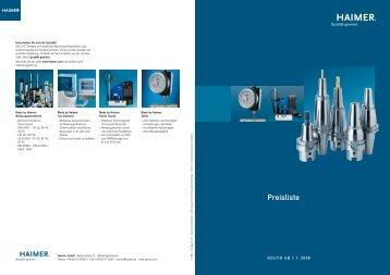 Preisliste - Haimer GmbH