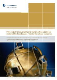Developing and implementing a database model ... - Nordic Innovation