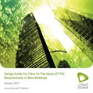 Design Guide For Fibre-To-The-Home (FTTH ... - Etisalat