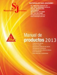 Manual de productos Sika 2013.pdf - Materiales San Jerónimo