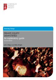 Private equity demystified: An explanatory guide - 2nd edition - ICAEW
