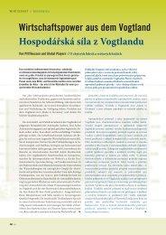 Wirtschaftspower aus dem Vogtland Hospodářská ... - Top Magazin