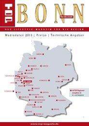 Mediadaten 2013 | Preise | Technische Angaben - Top Magazin