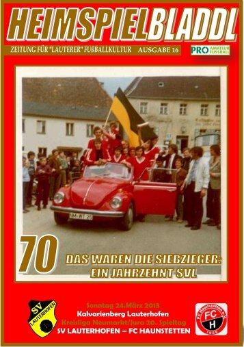 Ausgabe 09/2013 - SV Lauterhofen eV