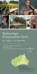 Kulturtage Frauenstein 2012 - Landeshauptstadt Wiesbaden