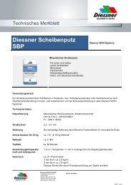 Diessner Scheibenputz SBP