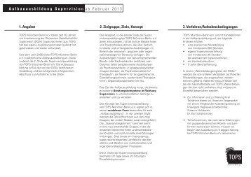 Ausschreibung und Termine Aufbauausbildung 2013-2014