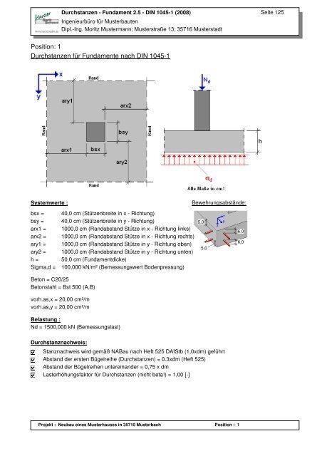 Beispiel 2 Harzer Statik Software