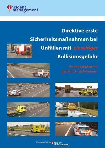 Direktive erste Sicherheitsmaßnahmen bei Unfällen mit einseitiger ...