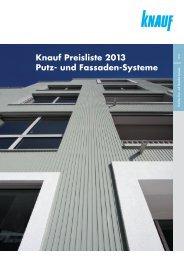 Preisliste Putz und Fassade 2013 (PDF 9206 KB) - Knauf AG