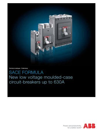 SACE FORMULA New low voltage moulded-case circuit ... - Piti Group