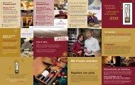 Scarica il calendario della Degustazione - Enoteca Weingalerie