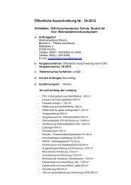 Öffentliche Ausschreibung Nr. 34-2012 - Worms