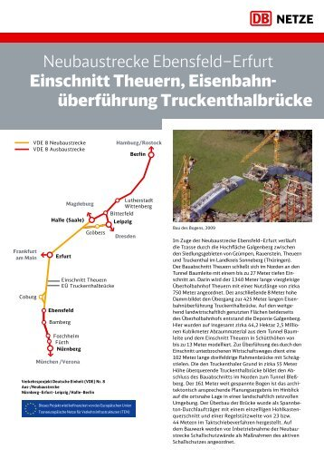 Neubaustrecke Ebensfeld–Erfurt Einschnitt Theuern, Eisenbahn ...