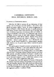 L'ASSEMBLEA COSTITUENTE DELLA REPUBBLICA ROMANA ...