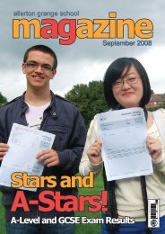 A-Level and GCSE Exam Results - Allerton Grange High School