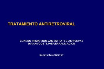tratamiento antiretroviral - Centro de Estudios de Políticas Públicas y ...
