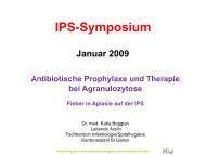 Antibiotische Prophylaxe und Therapie bei Agranulozytose