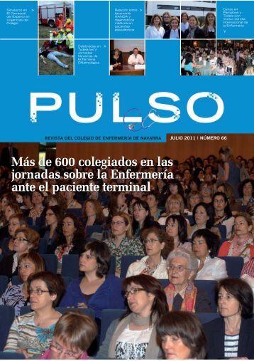 Pulso. Núm 66. Julio 2011 - Colegio Oficial de Enfermería de Navarra