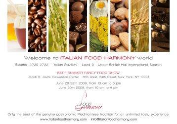 Brochure Food Harmony - Il portale dell'artigianato