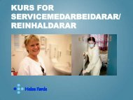 Kurs for servicemedarbeidarar/ reinhaldarar - Helse Førde
